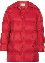 Prada Quilted Shell Down Jacket - Red