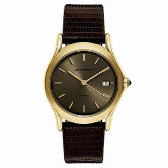 Emporio Armani Swiss Made Men's Swiss Quartz Stainless Steel and Brown Leather Dress Watch (Model: ARS3105)