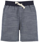 Andy & Evan Cotton Chambray Drawstring Shorts, Blue, Size 2-7