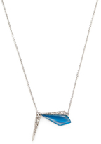 Alexis Bittar Crystal Encrusted Origami Inlay Pendant Necklace