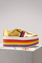 Gucci Metallic leather platform sneakers