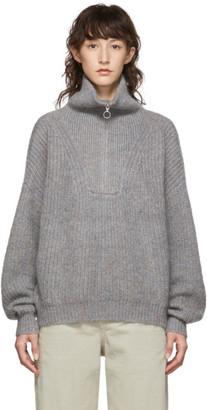 Etoile Isabel Marant Grey Myclan Knit Fluffy Turtleneck