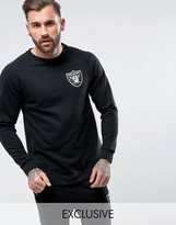 Majestic Raiders Longline Raglan Sweatshirt Exclusive to ASOS