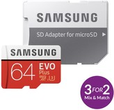 Samsung 64GB EVO Plus Micro SD Card With Adapter