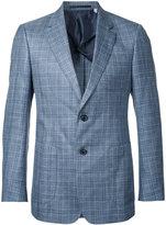 Cerruti woven check blazer - men - Silk/Linen/Flax/Wool - 46