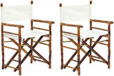 One Kings Lane Tortoise Farr Director's Chairs, Pair