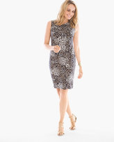 Chico's Leopard-Print Twisted Neckline Dress