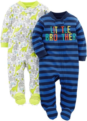 Carter's Simple Joys by Baby Boys 2-Pack Fleece Footed Sleep and Play