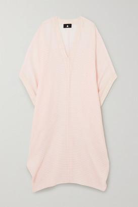 SU PARIS Bahia Striped Cotton-gauze Kaftan - Baby pink