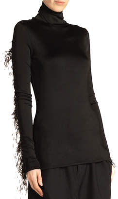 Proenza Schouler Feathered Jersey Tank Top