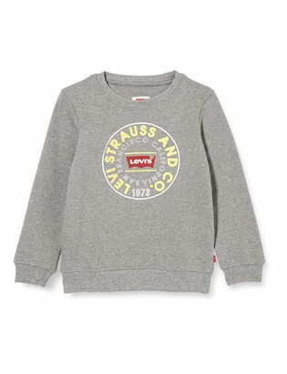 Levi's Kids Lvb Crewneck Sweatshirt Sweatshirt Boys DK Grey Heather 4 Years