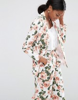 Asos Floral Edge to Edge Blazer Co-ord