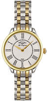Rotary LB02916/06 Women's Elise Two Tone Bracelet Strap Watch, Silver/Gold