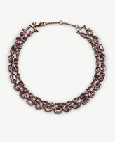 Ann Taylor Double Layer Mixed Crystal Necklace