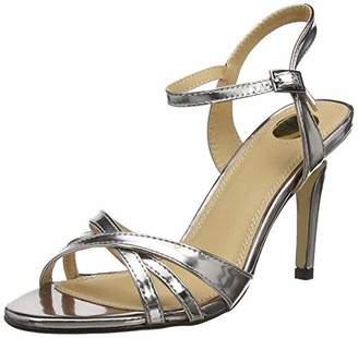 Buffalo David Bitton 312703 Metallic Pu, Women's Ankle Strap Sandals,(39 EU)