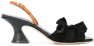 Lanvin Pleated Detail Slingback Sandals