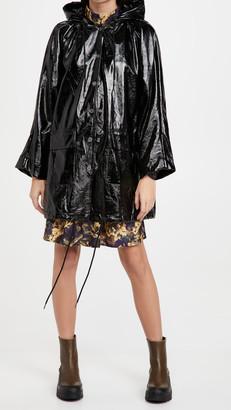 Pam & Gela Faux Patent Leather Coat