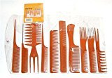 Magic 10 Piece Professional Styling Comb Set (BONE)