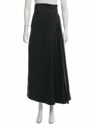 Stella McCartney Striped Midi Dress Grey