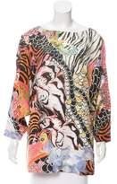 Philosophy di Alberta Ferretti Silk Abstract Print Tunic