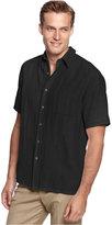 Tasso Elba Men's Silk-Blend Crosshatch Short-Sleeve Shirt, Only at Macy's