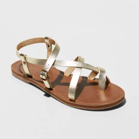 c13c7a1e8 Brushed Gold Sandals - ShopStyle