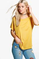 Boohoo Lauren Slash Neck T-Shirt