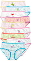 Maidenform 9-Pk. Fruity Days of the Week Cotton Brief Underwear, Little Girls (2-6X) & Big Girls (7-16)
