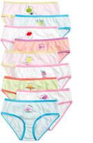 Maidenform 9-Pk. Fruity Days of the Week Cotton Brief Underwear, Little Girls and Big Girls