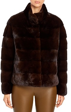 Maximilian Furs Quilted Mink Coat 100% Exclusive