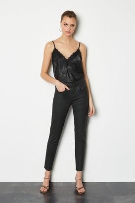 Karen Millen Coated Skinny Jean
