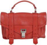 Proenza Schouler Tiny Ps1 Shoulder Bag From True Red Tiny Ps1 Shoulder Bag With Top Handle, Push-lock Closure, Strap Closure, Silver-tone Hardware, I