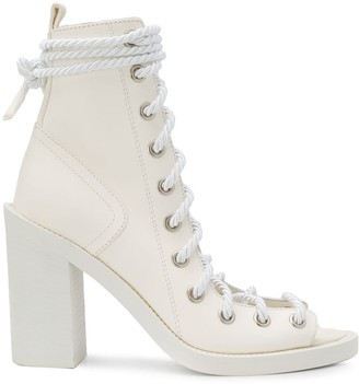 Ann Demeulemeester Lace-Up Open Toe Boots