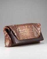 Crocodile Fold-Over Clutch