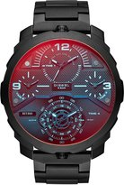 Diesel Men's 55mm Black IP Steel Bracelet & Case Quartz Multicolor Dial Analog Watch dz7362