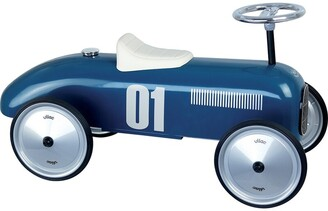 Vilac Vintage Ride-On Metal Car - Blue