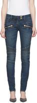 Balmain Blue Biker Jeans