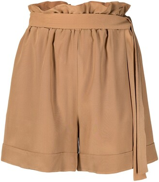 FEDERICA TOSI High Waisted Belted Shorts
