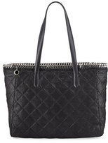 Stella McCartney Falabella East-West Quilted Tote Bag, Black