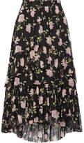 Ulla Johnson Begonia Ruffled Floral-print Silk-crepon Midi Skirt