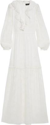 Rachel Zoe Ruffled Devore-chiffon Maxi Dress