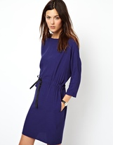 Asos Batwing Dress With Tie Waist