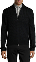 Toscano Men's Cableknit Knit Sweater