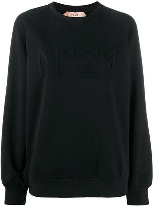 No.21 Tonal Logo Applique Sweatshirt