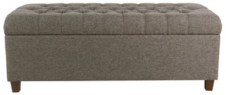 "HomePop Macalester 48"" Tufted Storage Bench - Gray"