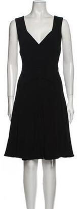 Roland Mouret V-Neck Knee-Length Dress w/ Tags Black