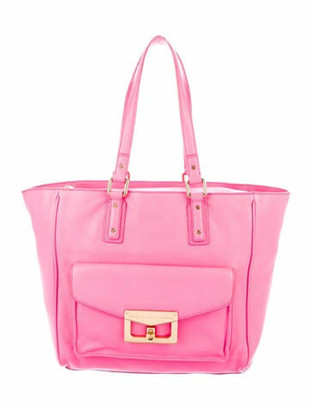 Marc by Marc Jacobs Grained Leather Tote Pink