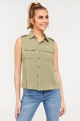 Ardene Sleeveless Button-Down Shirt