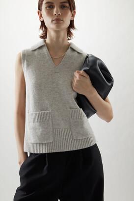 Cos V-Neck Patch Pocket Knitted Vest