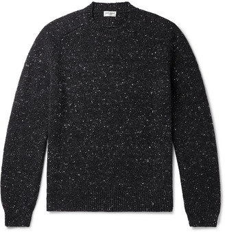Saint Laurent Melange Wool And Cashmere-Blend Sweater